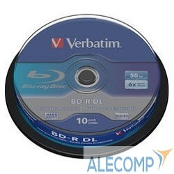 43746 Verbatim Диск BD-R 6-x, 50 Gb, Cake Box 10шт диски (43746)