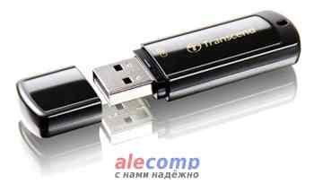 TS4GJF350 Флэш карта 4Gb Transcend JetFlash 350 (TS4GJF350), USB2.0, Black, RTL