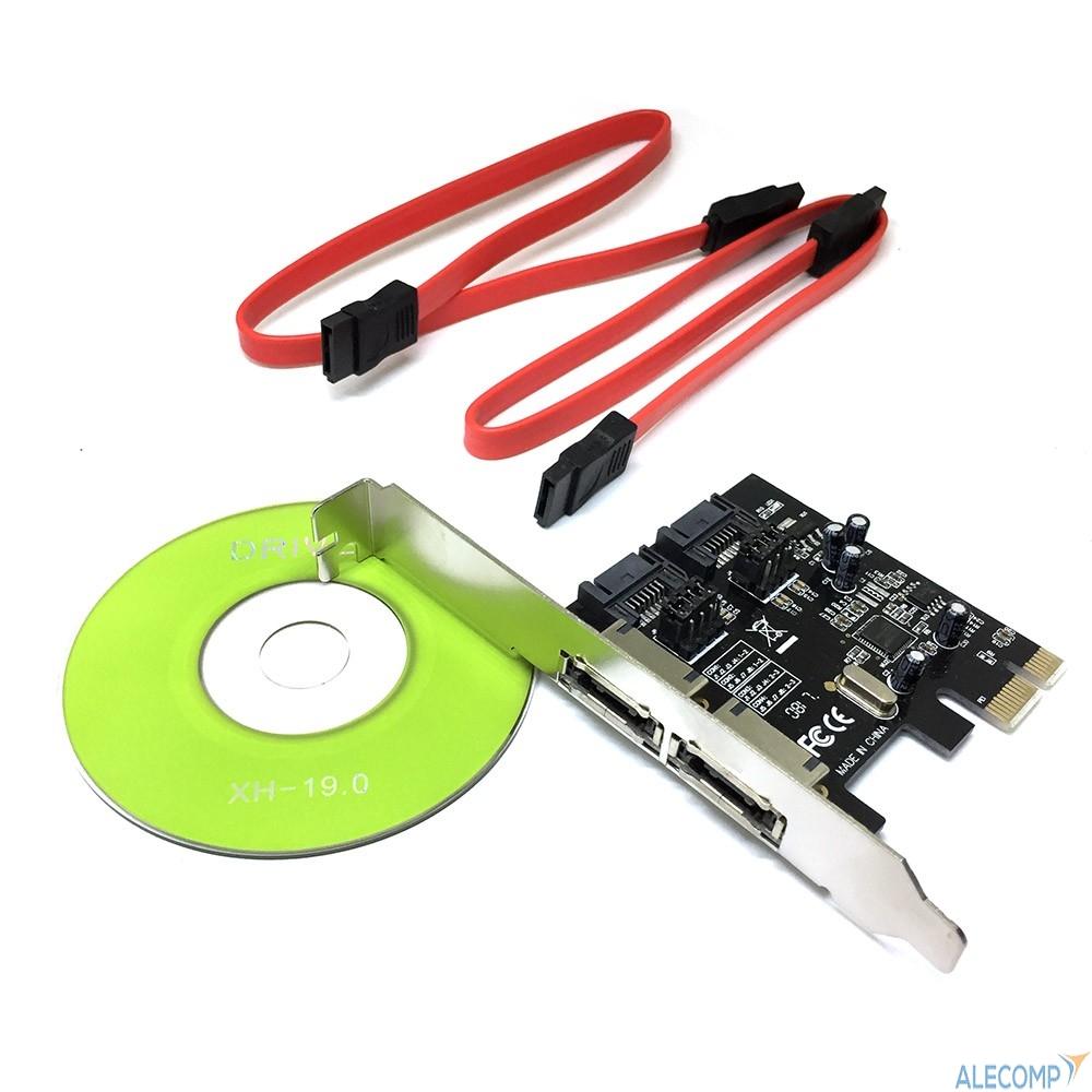 ES3A1601 Espada Контроллер PCI-E, SATA3 2 int + 2 ext, ASM1061 (ES3A1601), oem (43084)