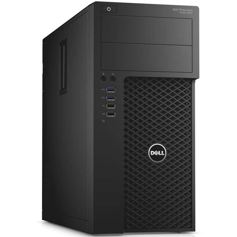 3620-4452 Компьютер Dell Precision 3620 MT Xeon E3-1220v5 (3.0)/8Gb/1Tb/SSD256Gb/P1000 4Gb/DVD/Linux/Черный