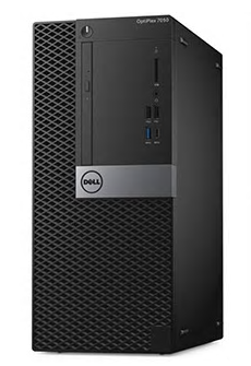7050-1801 Компьютер Dell Optiplex 7050 MT i5 6500T (2.5)/8Gb/1Tb/HDG530/Linux/WiFi/BT/65W/Kb + M/Черный
