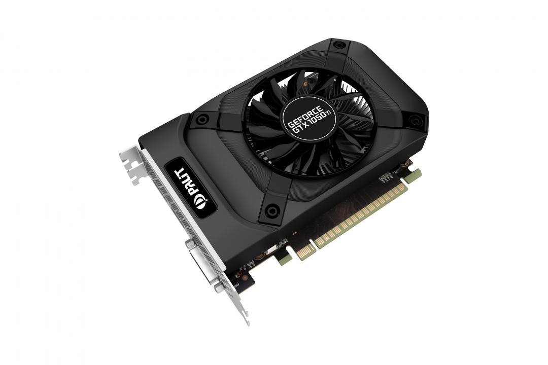 NE5105T018G1-1070F Видеокарта PALIT GeForce GTX1050Ti StormX / 4GB 128bit / DVI-D, HDMI, DisplayPort / PA-GTX1050Ti StormX 4G / RTL