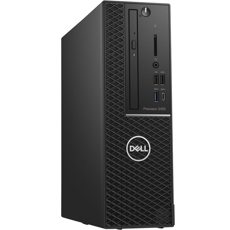 3430-5659 Рабочая станция DELL PRECISION T3430 3430-5659 PRECISION T3430 SFF, i7-8700 (3.2GHz, 12MB, 6C), 8GB (1x8GB) 2666MHz DDR4 Non ECC, 256GB SSD, DVD-RW, 2GB Nvidia Quadro P620(4mDP), Linux, keyboard, mouse, 3Y Basic NBD