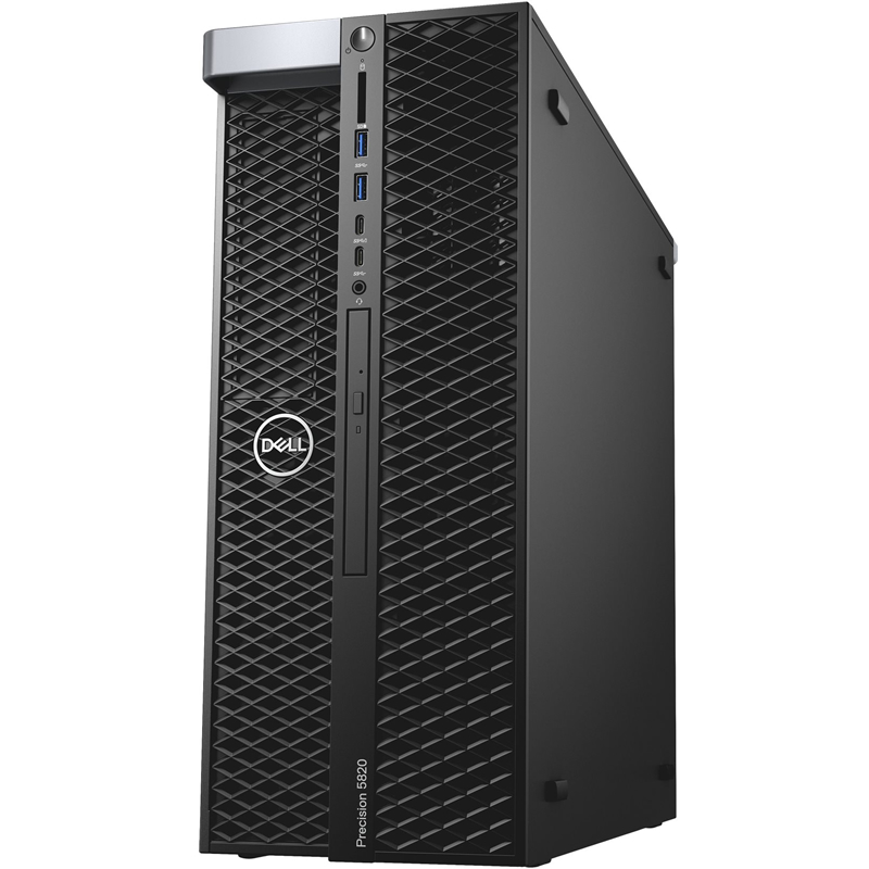 5820-2721 Компьютер 5820-2721 Dell Precision T5820 W-2133(3.6GHz, 6C), 32GB, 512GB SSD SATA 2TB SATA 7.2k, 8GB Quadro P4000, DVD-RW,Win10 Pro, keyboard, mouse, 3Y Basic NBD