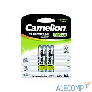 1657 Camelion   AA- 600mAh Ni-Cd BL-2 (NC-AA600BP2, аккумулятор,1.2В)