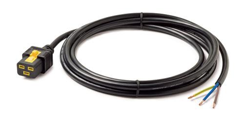 AP8759 APC Power Cord, Locking C19 to Rewireable, 3.0m