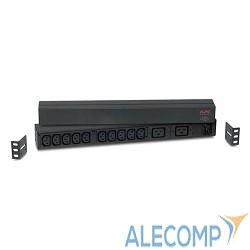AP9559 APC Rack PDU, Basic, 1U, 16A, 208/230V, (10)C13 & (2)C19 out; C20 in