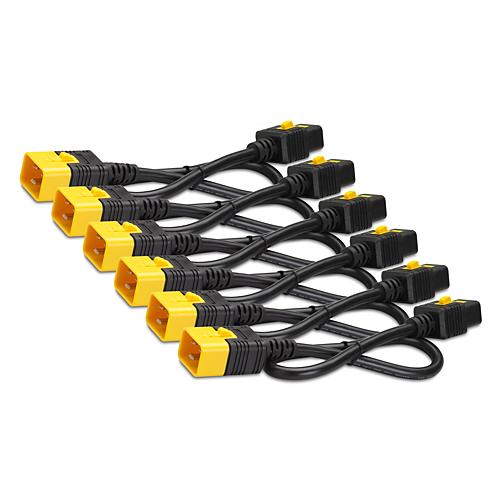 AP8714S APC Power Cord Kit (6 pack), Locking, IEC 320 C19 to IEC 320 C20, 16A, 208/230V, 1.2m