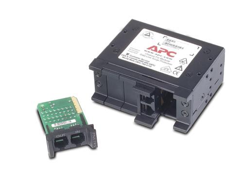 PRM4 APC 4 position chassis, 1U, for replaceable data line surge protection modules
