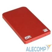 "SUB2O1(RED) AgeStar Внешний корпус 2,5"" SATA AgeStar SUB2O1 (RED) USB2.0, алюминий, красный (04513)"