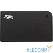 "3UB2A14BLACK AgeStar USB 3.0 Внешний корпус 2.5"" SATA AgeStar 3UB2A14 (BLACK) USB3.0, алюминий, черный, безвинтовая конструкция 10604"