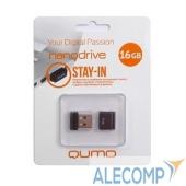 QM16GUD-NANO-B USB 2.0 QUMO 16GB NANO QM16GUD-NANO-B Black