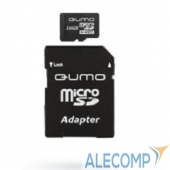 QM16MICSDHC10 Micro SecureDigital 16Gb QUMO QM16(G)MICSDHC10 MicroSDHC Class 10, SD adapter