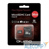 QM16GMICSDHC10U1 Micro SecureDigital 16Gb QUMO QM16GMICSDHC10U1 MicroSDHC Class 10 UHS-I, SD adapter