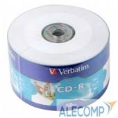 43794 Verbatim Диски CD-R 80min, 700mb, 52x Shrink/50 Ink Print 43794