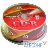 VSCDRCB2501 Диски VS CD-R 80min, 52x, Cake Box 25шт.