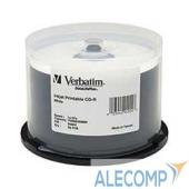 43439 Verbatim Диски CD-R 25 шт.  Printable InkJet, 52-x 700Mb, Cake Box (43439)