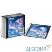 T19447 TDK Диск DVD+R 4.7Gb 16x SJC (10шт) DVD+R47SCED10-L, (t19447)