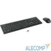 997834 Oklick 250M Black USB Клавиатура + мышь, беспроводная slim 997834