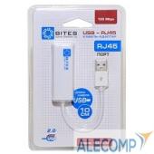 UA2-45-02WH 5bites Кабель-адаптер 5bites UA2-45-02WH USB2.0 - RJ45 10/100 Мбит/с, 10см