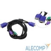 CE0300 ProCase Кабель 3.0м PS/2 + USB для KVM переключателей Procase серии Е