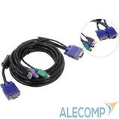 CE0500 ProCase Кабель 5.0м PS/2 + USB для KVM переключателей Procase серии Е