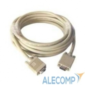 CC-PPVGAX-10m Gembird/Cablexpert CC-PPVGAX-10m, Кабель удлинитель VGA Premium , 10м, 15M/15F, серый, тройной экран, феррит.кольца