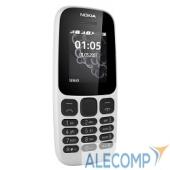"""A00028316 NOKIA 105 DS TA-1034 WHITE (2017) A00028316 1.4"""", 128x128, FM, 8Мб"""
