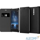 1A21PR500VA 1A21PR500VA Nokia 8 Leather Flip Cover Black (CP-801/  009463) 1A21PR500VA