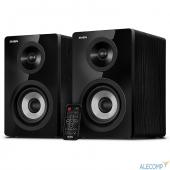 SV-016159 SV-016159 SVEN SPS-750, чёрный акустическая система 2.0, мощность 2х25Вт (RMS), пульт ДУ, Bluetooth, Optical