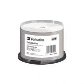 43744 Диск DVD-R Verbatim 4.7Gb 16x Cake Box (50шт) Printable (43744)
