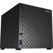 AS1004T ASUSTOR 4-Bay NAS/CPU (2Core)/512MBDDR3/noHDD,LFF(SATAll,SATAIII,SSD)/1x1GbE(LAN)/2xUSB3.0/4ip camera license