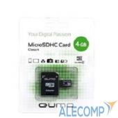 QM4GMICSDHC4 Micro SecureDigital 4Gb QUMO QM4GMICSDHC4 MicroSDHC Class 4, SD adapter