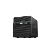 DS418j Synology DS418j Сетевое хранилище 4xHDD SATA (3,5'') 1,4GhzCPU, 1GB/RAID0, 1, 10, 5, 6, 10/  2xUSB, 1GigEth, iSCSI, 2xIPcam (upto 16), 1xPS