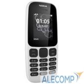 """A00028371 NOKIA 105 SS TA-1010 WHITE (2017) A00028371 1.4"""", 128x128, FM, 8Мб"""