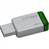 DT50/16GB 16Gb Kingston 50 (DT50/16GB) USB3.1, металлический корпус, RTL
