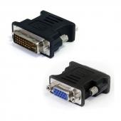 C393B Переходник DVI-I (M) -> VGA (F), Orient C393B, позолоченные разъемы, черный