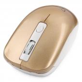 MUSW-400-G Gembird MUSW-400-G, беспроводная мышь, 1600 dpi, 3 кнопки, розово-золотая, бесшумный клик