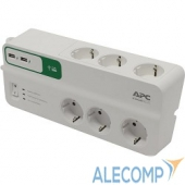 PM6U-RS APC Essential SurgeArrest 6 outlets with 5V, 2.4A 2 port USB charger, 230V Russia