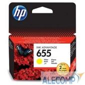 CZ112AE Cartridge HP 655 для DJ IA 3525/5525/4515/4525, желтый (600 стр)