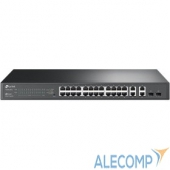 T1500-28TC TP-Link T1500-28TC JetStream Smart коммутатор на 24 порта 10/100 Мбит/с и 4 гигабитных порта SMB