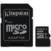 SDCS/16GB Micro SecureDigital 16Gb Kingston SDCS/16GB MicroSDHC Class 10 UHS-I, SD adapter