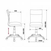 CH-1399/GREY Кресло CH-1399/GREY спинка сетка серый сиденье серый искусственная кожа крестовина металл