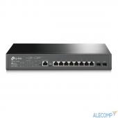 T2500G-10MPS TP-Link T2500G-10MPS JetStream 8-портовый гигабитный управляемый коммутатор PoE+ 2 уровня с 2 SFP-слотами