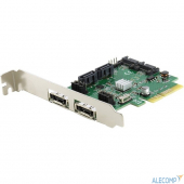 FG-EST11B-1 Espada Контроллер PCI-E, HYPER Duo, 4 int+2 ext SATA3, FG-EST11B-1-CT01, box (39718)