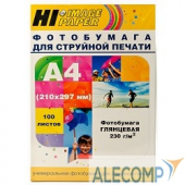 A200102U Hi-Black A200102U Фотобумага глянцевая односторонняя (Hi-image paper) A4, 230 г/м, 100 л. H230-A4-100