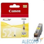 2936B004 Картридж Canon PIXMA iP3600/iP4600/MP540 (O) CLI-521, Y