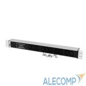 """R-10-10C13-FI-440-Z ЦМО Блок розеток Rem-10 без шнура с фил. и инд., 10 IEC 60320 C13, вход IEC 60320 C14, 10A, алюм., 19"""" (R-10-10C13-FI-440-Z)"""