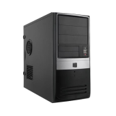 6121835 Mini Tower InWin EMR003 Black/Graphite 450W(RB-S450HQ70) 2 *USB+AirDuct+Audio mATX 6121835