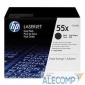 CE255XD Картридж HP CE255XD 55X для LJ P3015, MFP M525dn двойная упаковка (2 х 12 500 стр)